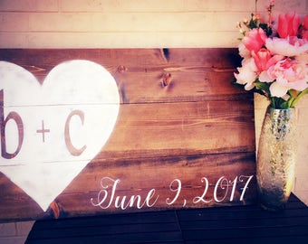 Wedding Guestbook Sign, Rustic Wedding decor, Country Wedding Decor, Wood Sign for wedding