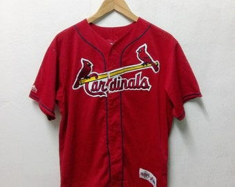 085fcd2fc ... Vintage MLB Embroidered Logo Baseball St.Louis Cardinals Majestic  Athletic Jersey ...