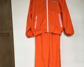 Vintage 1980's Hooters Jumpsuit / Rare/ Windsuit / Hooters / Vintage / Retro / Orange / Track Suit / 1980's / Sweatsuit