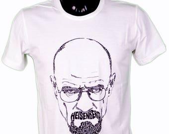 HEISENBERG T-SHIRT - breaking bad - walter white illustration / / heisenberg drawing men t-shirt sizes s, m, l xl