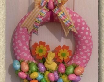 Easter Eggs Wall Wreath / Door Wreath / Easter Decoration / Hand made / Bunny Wreath