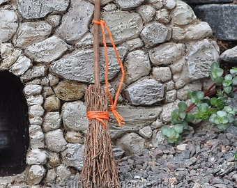Twig Broom for Miniature Garden, Fairy Garden