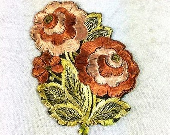 Antique Silk Chrysanthemum Patch Embroidery Applique Patches Antique Flower Patch Applique 1935 Nr 7