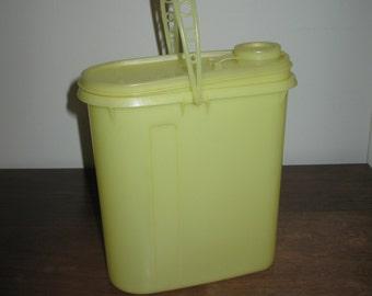 Vintage Yellow Tupperware Pitcher