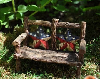 Fairy Garden Patio Bench