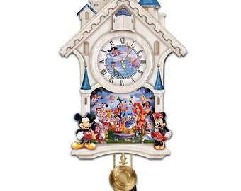Disney Character Cuckoo Clock ULTIMATE DISNEY by The Bradford Exchange