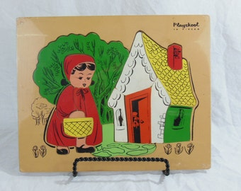 Playskool Little Red Riding Hood, Jigsaw Puzzle - Wood Pieces