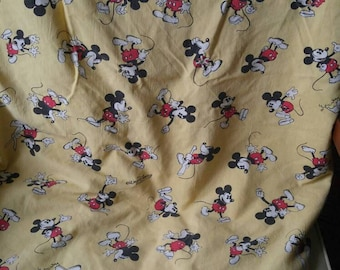 Walt Disney Productions mickey mouse homemade fitted sheet / 1960