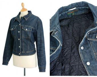 KATHARINE HAMNETT vintage 1990s blue denim jacket - size M