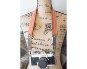 Leather Camera Strap-Retro camera strap-Film Camera Strap-DSLR Camera Strap-Universal Camera Strap-Pink Camera Strap