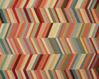 Tapestry Chevron Luxury Designer Fabric Ideal For Upholstery Curtains Cushions Throws