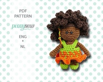 Mini curly Lizzy, amigurumi crochet pattern