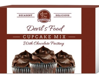 Devil's Food Cupcake Mix w/Chocolate Frosting