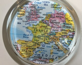Map of Europe paperweight