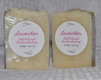 SALE**All Natural Lavender Handmade Soap