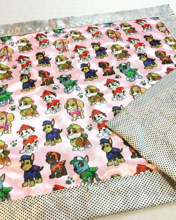 Pink paw patrol silky blanket, Baby blanket, Silky blanket, Stroller blanket, Lovey, silky, Homemade.