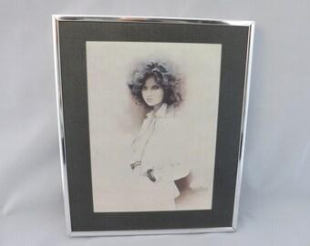 """VINTAGE PRINT, Sara Moon """"Jennifer"""".  1977 Picture by Iranian Born Artist Bijan. Framed Print."""