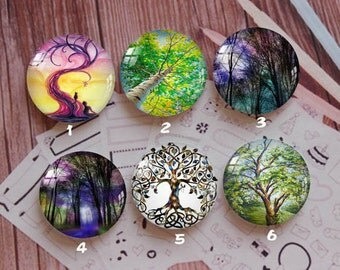 Handmade Round Photo glass Cabochons,8mm -58mm size Cute Animal Style Butterfly More-ZY872