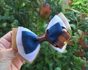 Flynn Rider hair bow