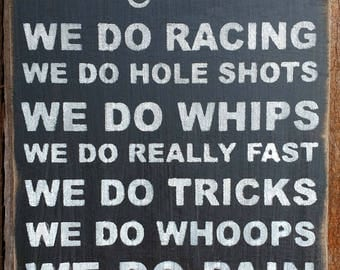 We Do Motocross Distressed Sign, Motocross Sign, Motorcycle Sign, Motocross Gifts, Motorcycle Gifts, Motocross Decor, Motorcycle Decor