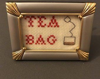 Tea Bag Cross-stitch