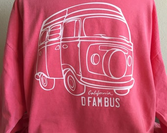 Volkswagon Bus Long Sleeve Comfort Color Tshirt // Choose Your Color
