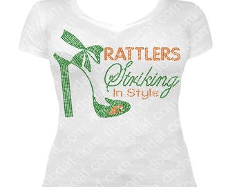 "Custom Rattlers ""Striking Back""  Rhinestone Design"