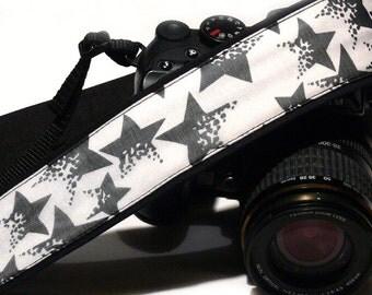 Stars Camera Strap. DSLR Camera Strap. Starry Camera Strap. Black and White Camera Strap. Camera Accessories. Gifts for Him