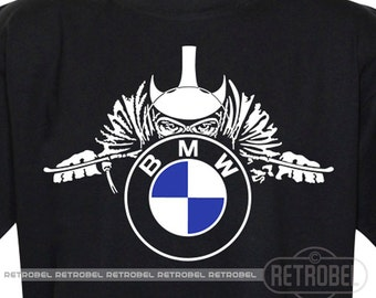 Mens T-shirt BMW motorcycles, Black, Cafe Racer,Classic Vintage Motorcycle, 100% Cotton, Graphic Tee,