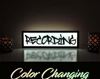 Recording Light Up Sign, Now Recording, Recording Light, Business Sign, On Air Sign, On Air, Recording, Graffiti Recording Sign