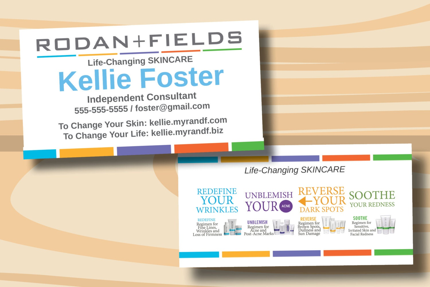 Rodan Fields Business Cards Two Sided Business Card PRINTED