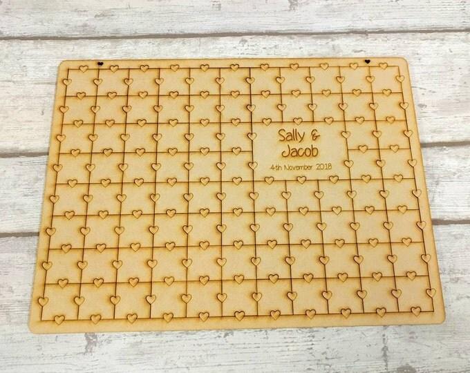 Wooden Jigsaw guestbook
