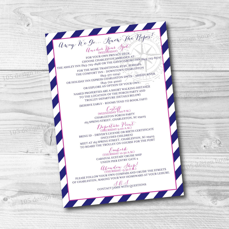 Nautical Wedding Invitation Printable - Anchor Wedding Invitation ...