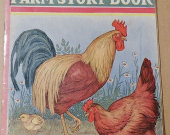 Little Tots Farm Story Book Vintage book Antique book Collectible book Children's book Classic book 1920s book Gift for children