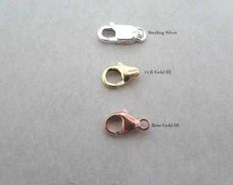 Lobster Clasp upgrade for LAminJewelry, Necklace, Bracelet, Anklet, 14K Gold Filled, Sterling Silver, Rose gold fill