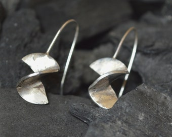sterling silver earrings handmade,sterling silver earring,geometric contemporary modern metalsmith, minimalist earrings,unique design,925