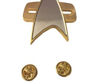 Star Trek Voyager DS9 Full Size Communicator Chest Insignia Metal Pin Costume Accessory