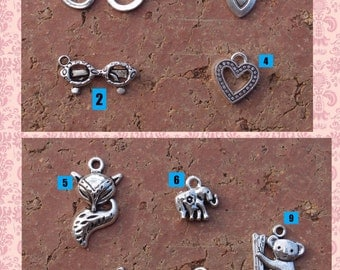 Zipper pull charms- Can ONLY be purchased WITH a Glasses Case. Convo me with number of choice.