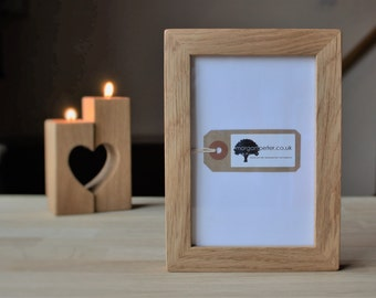 Wooden picture frames - Oak wood picture frames in 4x6 5x7 6x8 morganpeterframe