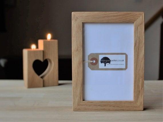 wooden picture frames oak wood picture frames in 4x6 5x7 6x8. Black Bedroom Furniture Sets. Home Design Ideas