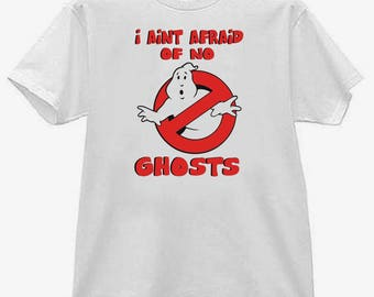 Childs tee shirt new cotton featuring Ghostbusters - I Aint Afraid Of No Ghosts on kids t shirt