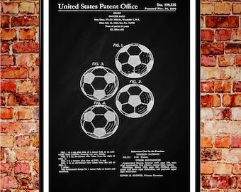 Football Art Soccer Art Soccer ball Decor Soccer Ball Patent Print Football Wall Art Football Poster Football Patent Poster Patent Art WB062