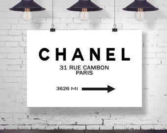Chanel Wall Art Chanel Poster Chanel Poster Chanel Wall Art Fashion Marble Wall Art (Sizes from 5x7 to 50cm x 70cm)