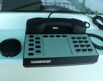 "The telephone ""Electronics Eletap-micro"" (mod. 4). Phone USSR, retro phone, vintage black, white phone. Electronics, rarity"