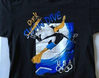 Daffy Duck USA Olympics 1995 Duck Swan Dive Warner Bros Black