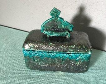 Egyptian blue ceramics  box