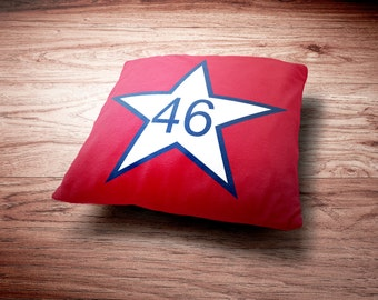 Oklahoma Pillow - First State Flag of Oklahoma Throw Pillow