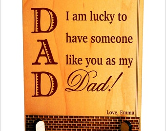 Dad Appreciation Gift,Thank You Dad Gift, Keepsake Gift, Son to Dad Gift, Daughter to Dad Gift, Fathers Day Gift, Father, PDL031