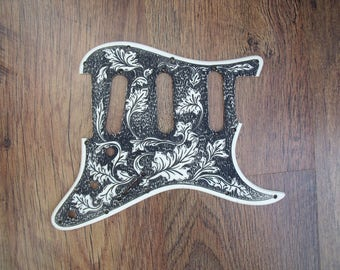 stratocaster pickguard scratchplate custom engraved hand made in the uk