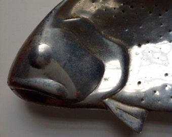Large Pewter Fish serving dish